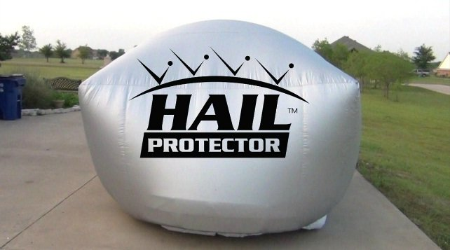 "Giant ""Hail Protector""- Your Car's Safe Haven in a Hail Storm"