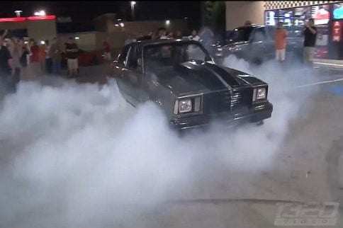 Video: LS Fest After Party, Burnouts at the Raceway Gas Station
