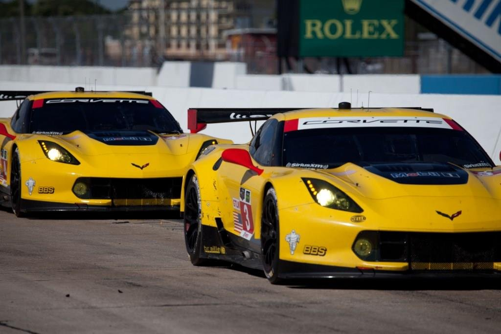 TUDOR United Sports Car Sebring Test Brings Out Race Corvettes