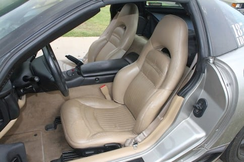 Corvette Central Seat Cover Replacement Install on Project Y2K