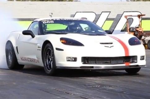 Video: 1,500 Horsepower C6 Z06 Corvette at the Dragstrip
