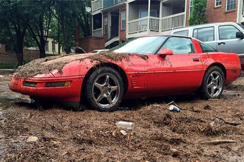 Atlanta Floods Take Down an Innocent C4 Corvette