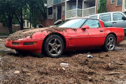 Atlanta Floods Take Down an Innocent C4 Corvette