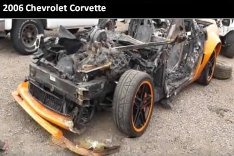 "Wrecked Vette Wednesday: ""Call to Schedule Your Test Drive Today!"""