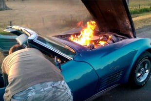 Video: Feelin' the Burn, Literally - C3 Goes Up In Flames