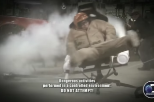 "Watch AZN From Street Outlaws Almost Die In The ""Nitrous Chair"""