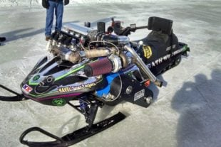 Video: This Turbocharged LS Swapped Snowmobile Is Insane