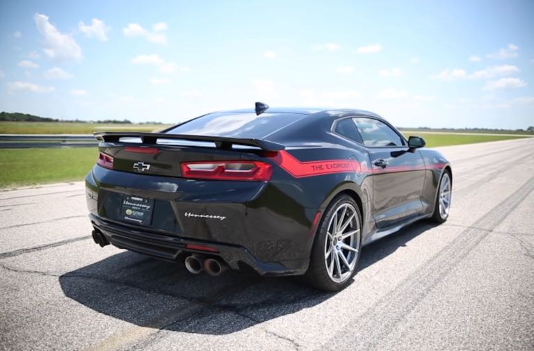 On The Road With Hennessy's 1,000HP Exorcist Camaro ZL1