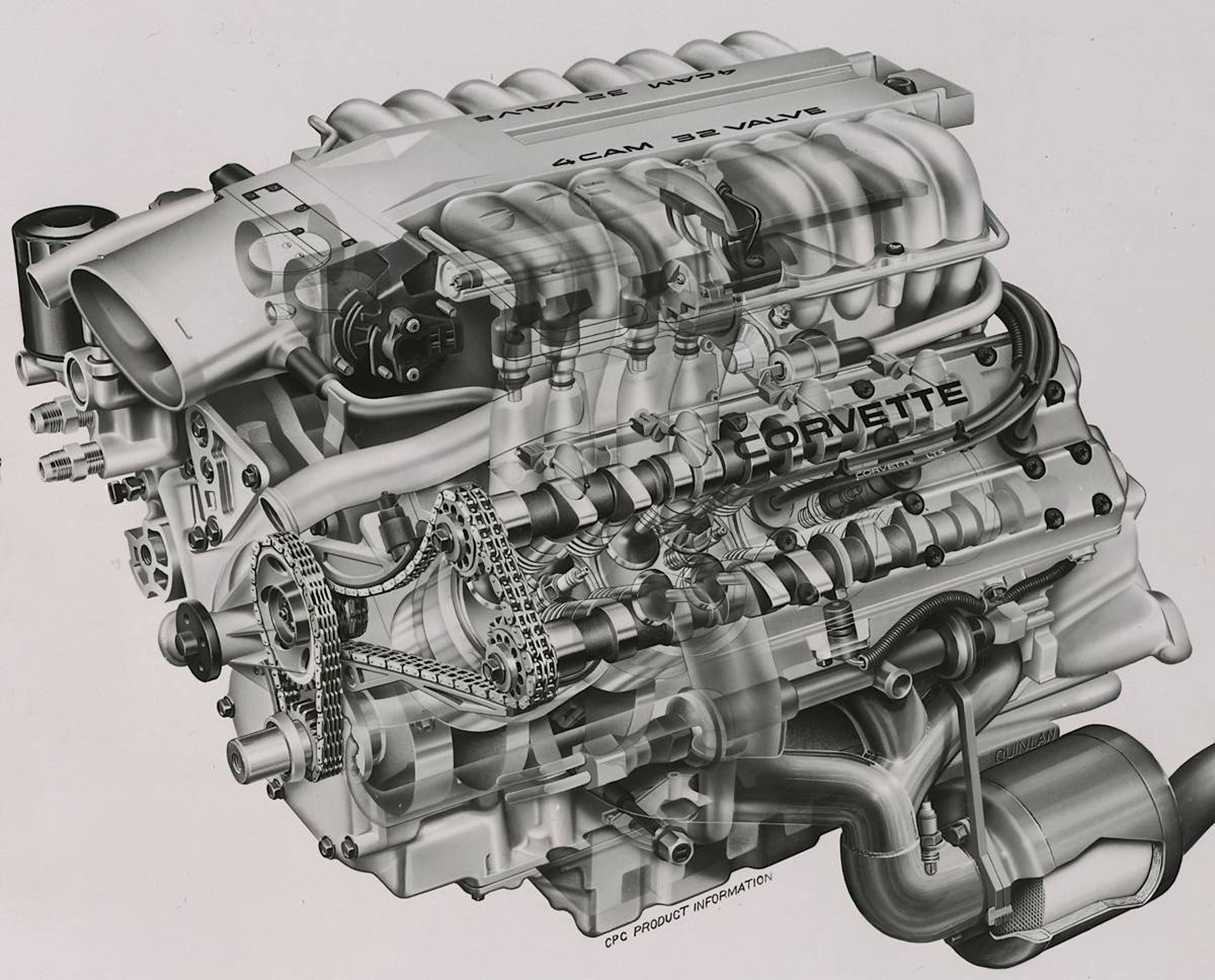 lt5 engine diagram a look at the c4 zr 1 s jewel like  all aluminum dohc lt5 engine  dohc lt5 engine