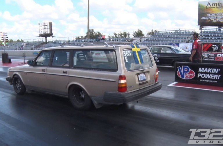 Video: Street Legal Volvo Wagon Lays Down Eight Second Passes
