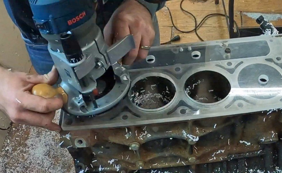 Video: Beating Boredom — Building An Engine Block Out Of Plexiglas