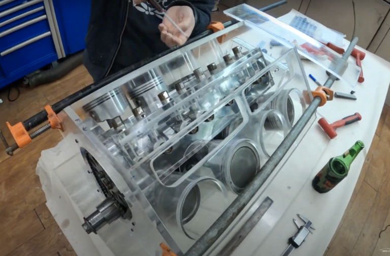 Beating Boredom Part 2: Building An LS Engine Out Of Plexiglass